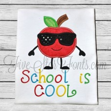 Apple Cutie in Sunglasses Applique