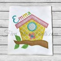 Spring Birdhouse Applique