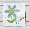 Spring Flower Petals Applique
