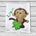 Shamrock Monkey Applique for Boys