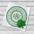 Shamrock Circle Frame Applique
