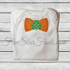 Shamrock Bow Tie Applique