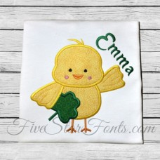 Shamrock Chick Applique