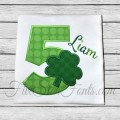 Shamrock Applique Numbers