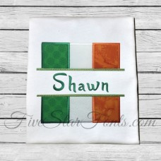 Split Irish Flag Applique