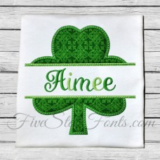 Split Single Shamrock Applique
