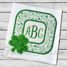 Shamrock Square Frame Applique
