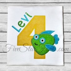 Fish Applique Numbers
