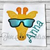 Cool Hipster Giraffe in Sunglasses Applique