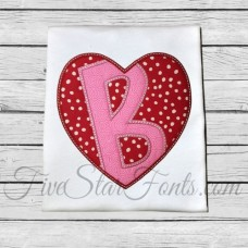Heart Applique Font