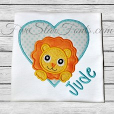 Lion Heart Applique
