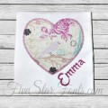 Scribble Heart Valentine Applique
