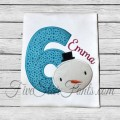 Snowman Applique Birthday Numbers