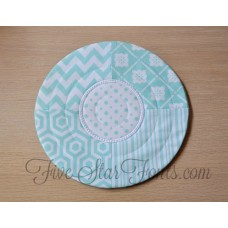 In the Hoop Pieced Quilted Circle Mug Rug 12 Sizes