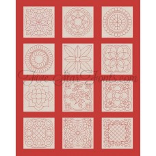 Classic Motif Quilt Blocks 12 Different Designs