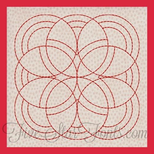 Classic Motif Quilt Blocks 12 Different Designs