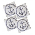 Nautical Anchor Coasters In the Hoop