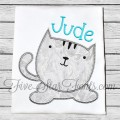 Sweet and Simple Kitty Cat Applique Design