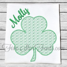Delicate Quick Fill Stitch Shamrock Design