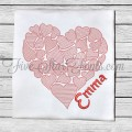 Light Fill Hearts Embroidery Design