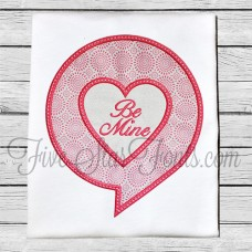 Talking Heart Bubble Applique Design