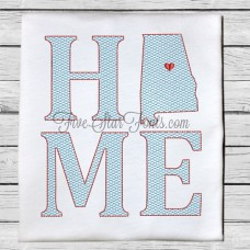 Home State AL Quick Stitch Designs Alabama