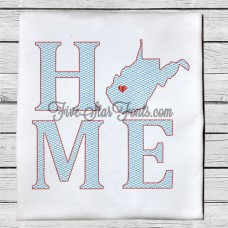 Home State WV Quick Stitch Designs West Virginia