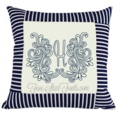 Swirly Doodle Monogram Continuous Bold Stitch 7 Sizes