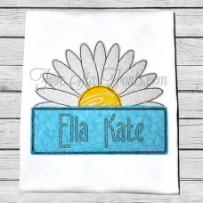 Daisy Banner Quick Bean Stitch Applique Design