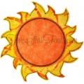 Modern Sun Applique Design