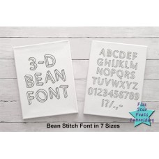 3-D Quick Bean Stitch Font
