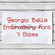 Georgia Belle Embroidery Font