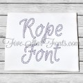 Rope Font Nautical Embroidery Font