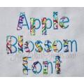 Apple Blossom Applique Font Quick Bean Stitch