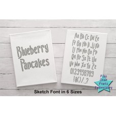 Blueberry Pancakes Sketch Font