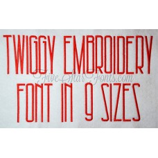 Twiggy Embroidery Font