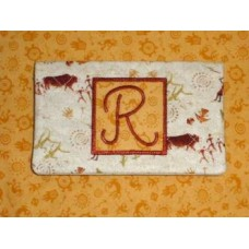 5x7 Hoop - Quilted Monogram Checkbook Cover