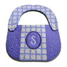 6x10 Pieced Monogram Bib in the Hoop