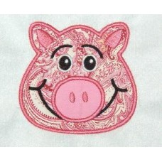 PIG Face Applique Design