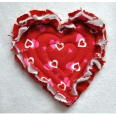 FREE Echo Quilt Raggy Heart Applique