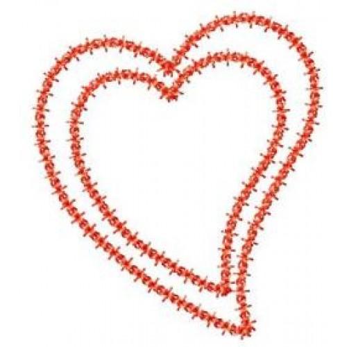 Free Deco Heart Applique Frame