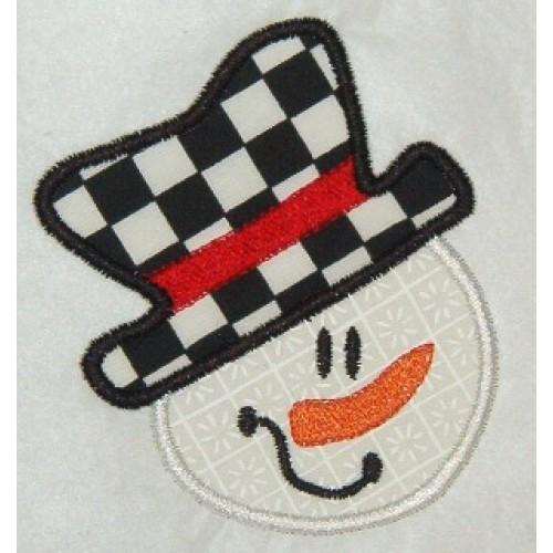 Free Snowman Applique Design