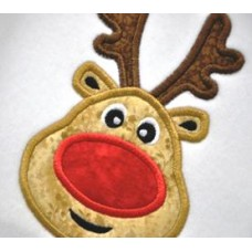 Silly Rudy Reindeer Applique