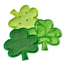 Trio of Shamrocks Applique