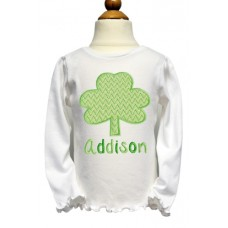 Chevron Shamrock Applique