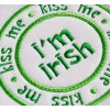 Kiss Me I'm Irish Circle Applique