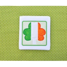 Irish Flag Shamrock Applique