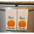 Pumpkin Applique Give Thanks