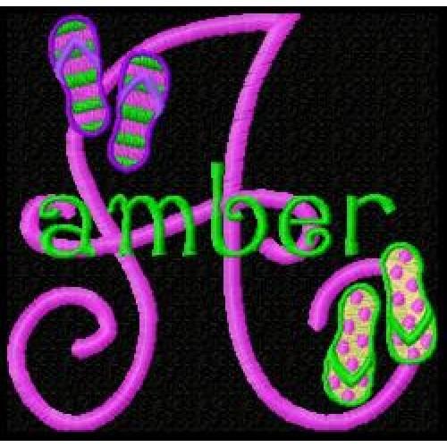 Flip Flops Monogram Font 25