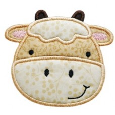 Cow Barnyard Applique